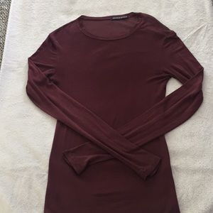 Brandy Melville maroon long sleeved tee